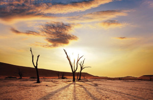 Ein Sonnentuntergang in Namibia - Namibia Mietwagenreisen