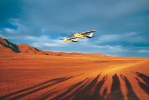 Kleinflugzeug WŸüste - Namibia Flugsafari